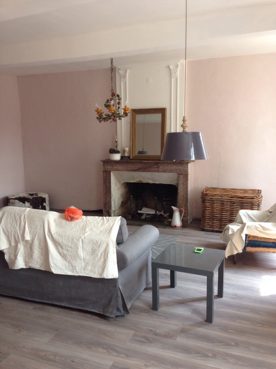 farrow and ball calamine we bought a french house. Black Bedroom Furniture Sets. Home Design Ideas